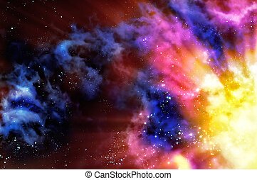 nebula - birth of a new nebula after the supernova explosion