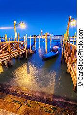 Church of San Giorgio Maggiore at twilight. Venice. Italy.