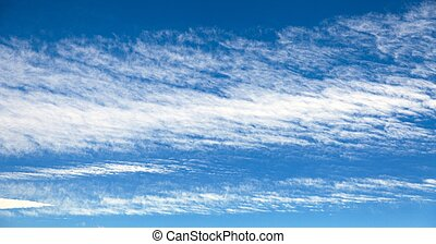 View of beautiful blue sky with white clouds