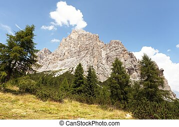 View of Monte Pelmo, Italien European Alps - View of Monte...