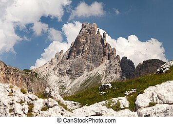 mount Croda da Lago, mountains in italian Dolomites -...