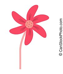 single flower icon - flat design single flower icon vector...