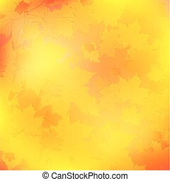 autumn background - maple leaves autumn background in orange...