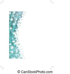 snowflake frame - vertical snowflake frame with copyspace...