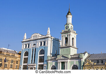 Former Greek Monastery on the Kontraktova Square in Kiev,...