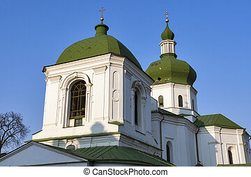 The Church of St. Nicholas Prytysk in Kiev, Ukraine. - The...