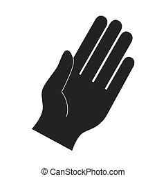 hand fingers palm direction gesture icon vector graphic