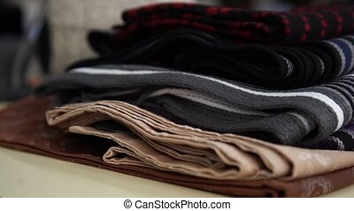 Scarfs cloth wear on store shelf - Accessory - Scarfs -...