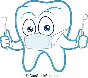 Tooth dentist holding tools - Clipart picture of a tooth...