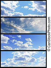 Sky banners collection - Set of beautiful heavenly...