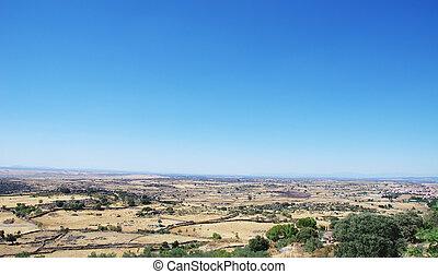 mediterranean landscape, extremadura region, Spain
