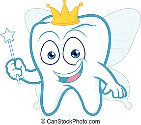 Smiling tooth fairy - Clipart picture of a smiling tooth...