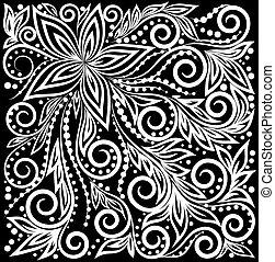 beautiful monochrome black and white Decorative graphic...