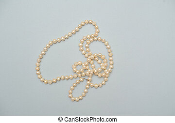 pearl beads on white background