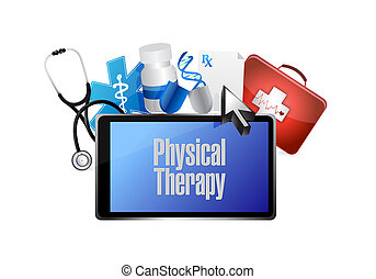 physical therapy medical technology isolated sign...