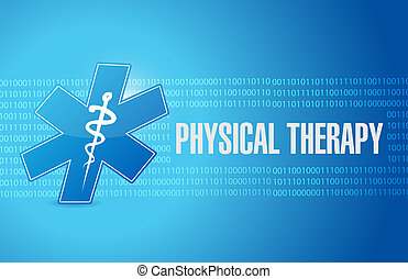 physical therapy medical symbol sign illustration design...