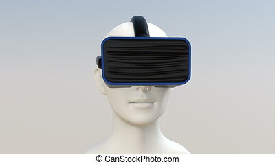3D animation of VR headset - 3D animation of CG human model...