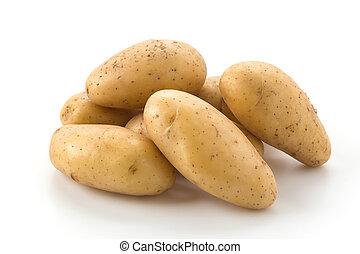 fresh potato on white background