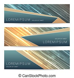 Broshure banner collection - Set of vector banners template....