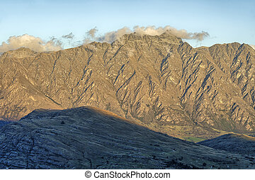 The Remarkables, New Zealand - Last daylight on The...