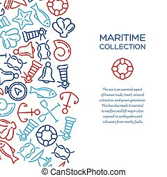 Maritime collection background - Maritime collection Sea...