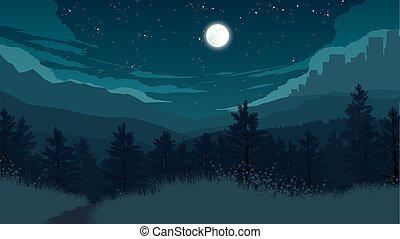 forest landscape illustration
