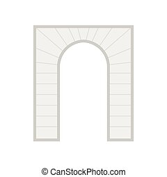 Stone arch icon in flat style - icon in flat style on a...