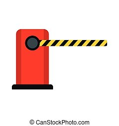 Parking barrier icon, flat style - Parking barrier icon in...
