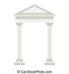 Greek arch icon, flat style - icon in flat style on a white...