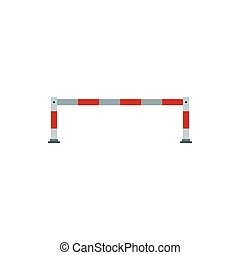 Barrier icon, flat style - Barrier icon in flat style...
