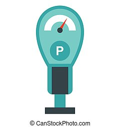 Parking meter icon, flat style