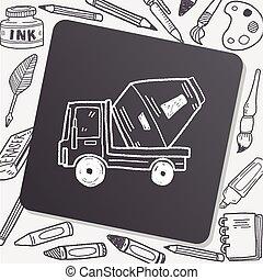 Cement Truck doodle