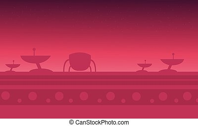 alien spacecraft red backgrounds game