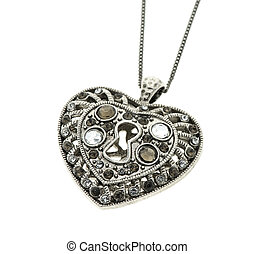 Vintage big heart shaped pendant