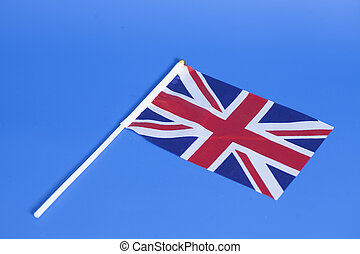 Flag of Great Britain on blue background