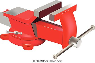 Tabletop swivel clamp - Adjustable red vise swivel table for...