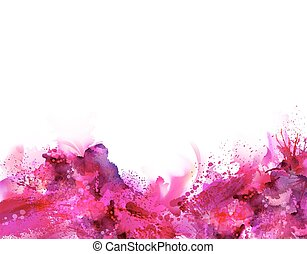 Abstract artistic Background forming by blots Pink stains...