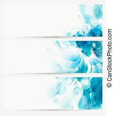 Blue abstract blots - Blue watercolor abstract blots...