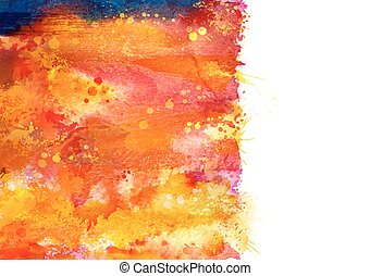 Bright watercolor blot - Bright watercolor stains with...