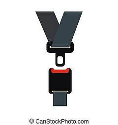 Safety belt icon in flat style - icon in flat style on a...