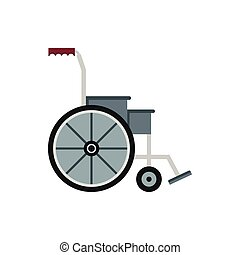 Wheelchair icon in flat style - icon in flat style on a...