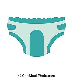 Adult diapers icon in flat style