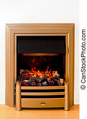 Decorative fireplace - Romantic atmosphere in front of...