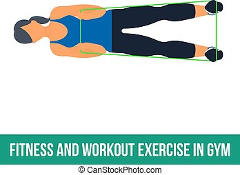 Aerobic icons. RESISTANCE BAND - Workout WITH RESISTANCE...
