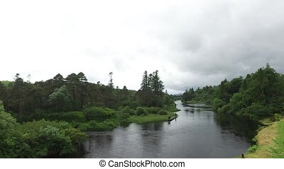 men fishing on river bank in ireland valley 1 - nature,...