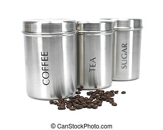 Tea Coffee and Sugar Cannisters - Tea coffee and sugar...