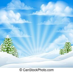 Christmas Snow Winter Background - Christmas snow winter...
