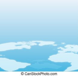 Blue World Map Background