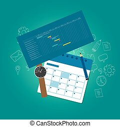 planning and scheduling time calendar timeline gantt chart...