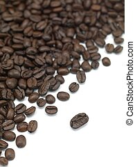 Coffee Beans - An up close shot of coffee beans